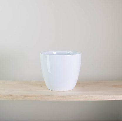 simple white pot, white plant pot, white indoor planter