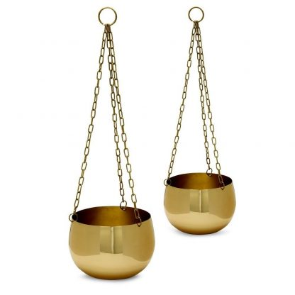 Real Brass Hanging Planters