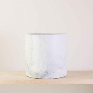 Marbled Concrete Plant Pot, Large