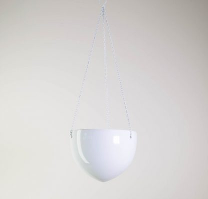 White Ceramic Hanging Plant Pot