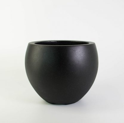 Rounded Black Plant Pot