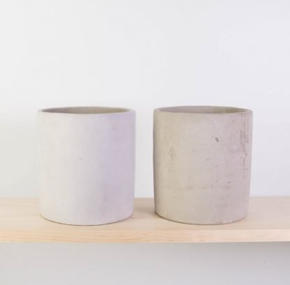 Concrete Plant Pot Small - Raw Concrete (RHS) or Grey Washed