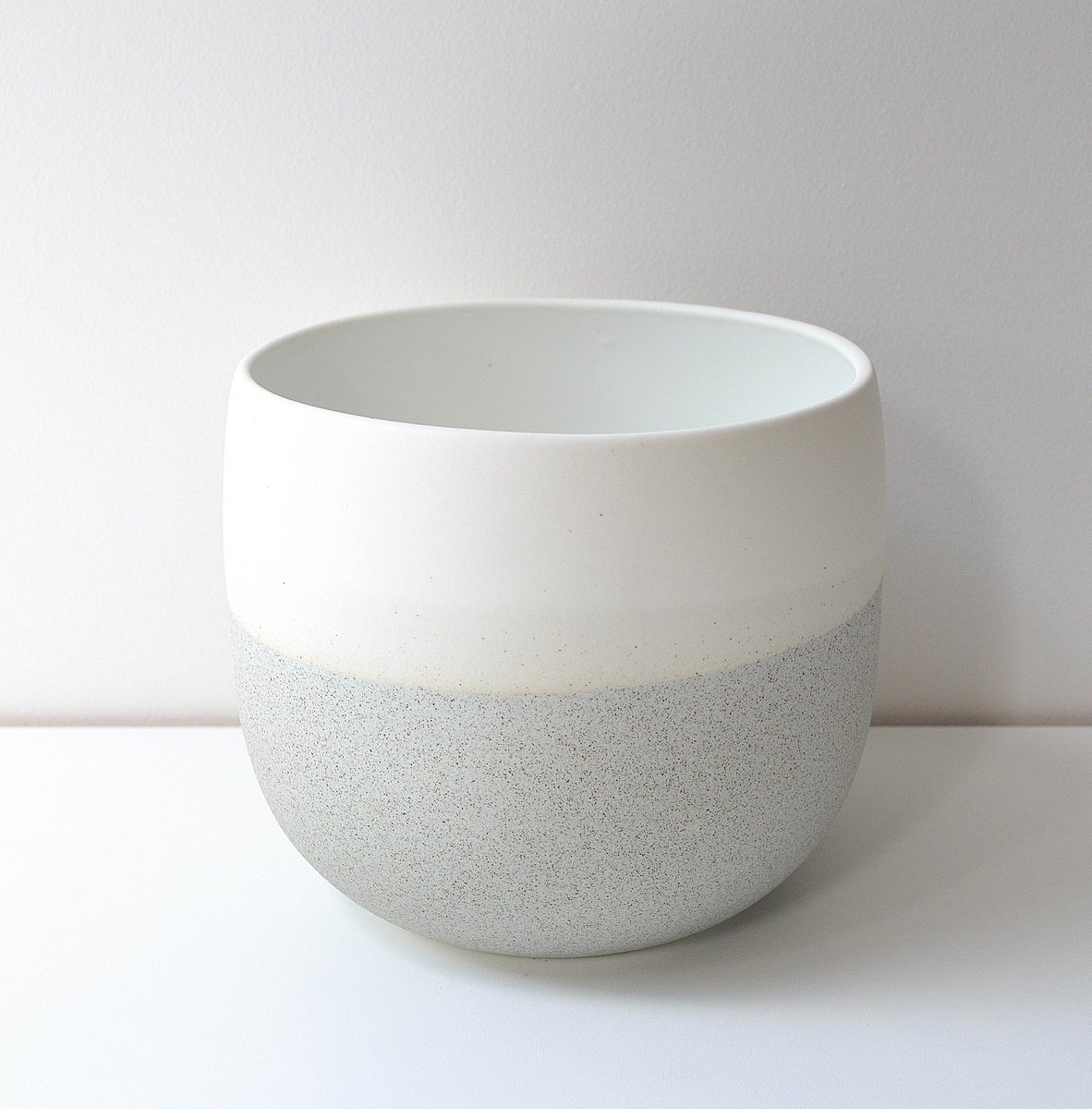 Renee Boyd Dusty Blue Speckle Pot Plantandpot Nz