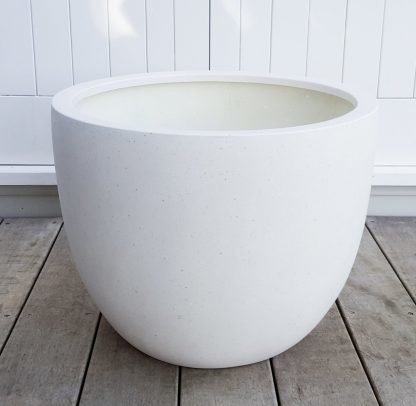 Outdoor or Indoor XXL Pot - Bianca Egg Pot