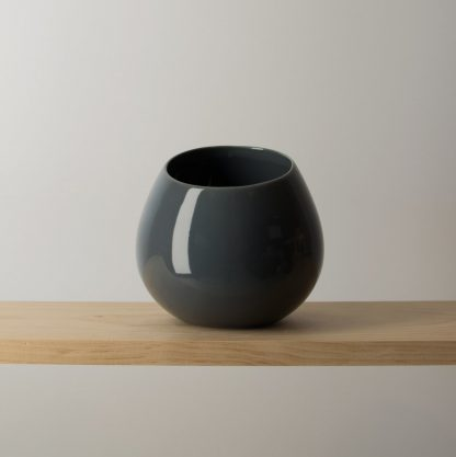 Dark Grey Shelf or Wall Pot