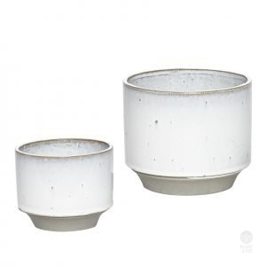 Light Grey Speckle Pot by Hubsch