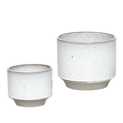 Light Grey Speckle Pot by Hubsch