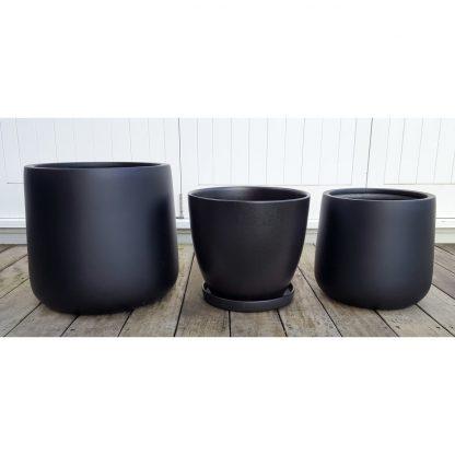 Black Bianca Cylinder Pot XXL