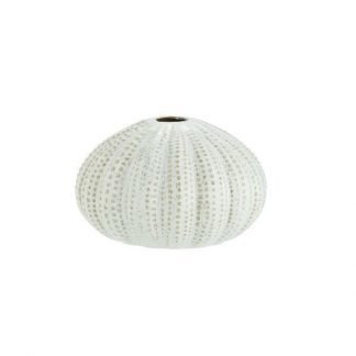 Madam Stoltz White Sea Urchins Vase