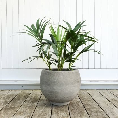 Cut Ball Planter with a Riverstone finish