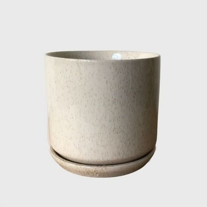 Sand Oslo Planter 15cm with matching saucer